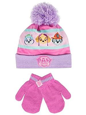 Paw Patrol - Conjunto de gorro y guantes para niña - La Patrulla Canina - Multicolor - Un tamaño de
