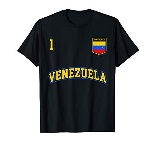 Equipo Deportivo Fútbol Venezuela No 1 Bandera venezolano Camiseta