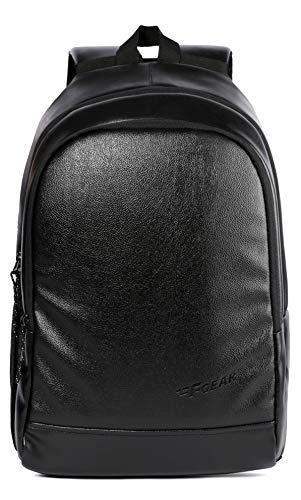 F Gear Castle Art Leather Black 22 Ltrs Laptop Backpack (3153)