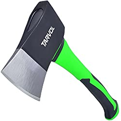 "Tarvol 14"" Camping Axe Review (FORGED STEEL HAMMERHEAD HATCHET BLADE) Fiberglass Comfort Tomahawk Handle w/ 1.25LB Carbon Blade"