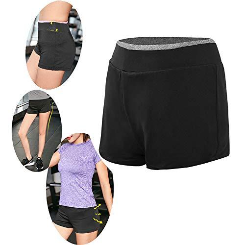 Frauen Shorts Laufen Radfahren Tanzen Shorts Mit Seitentaschen Laufen Fitness Leggings,D-M