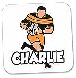 Dessous de verre personnalisé – Joueur de rugby – Cadeau – Anniversaire – Noël – Chaussette de remplissage – Père Noël secret