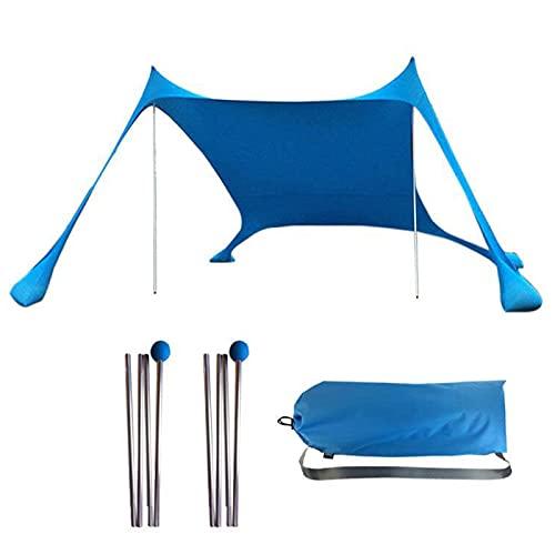 Tienda de Playa Campaña Refugio Carpa con Dosel Impermeable a Prueba de Lluvia y Protector Solar Pérgola de Exterior portátil Carpa para Camping