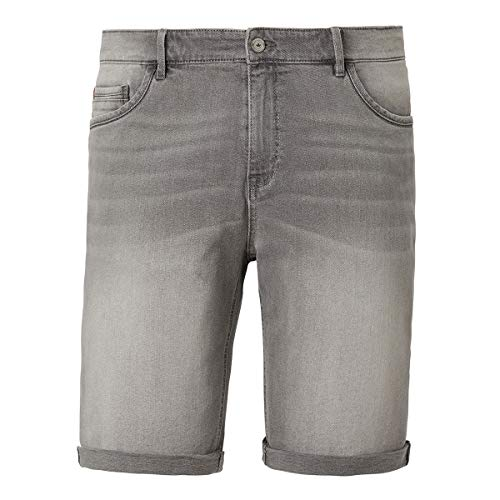 Redpoint Übergrößen Stretch-Jeans-Shorts grau Used, amerik. Hosengröße in inch:44