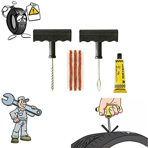 Kit Repara Pinchazos Bicicleta,Pegamento Para Reparar Pinchazos-ReparacióN NeumáTicos Utilizado Para Bicicletas/Motocicletas/Coches