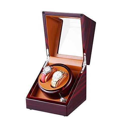 Caja de Almacenamiento de Reloj Caja de Reloj, Caja de Almacenamiento for Piano de Madera de sándalo Pintura 5 Vivienda automático con función de Carga automática y de Modo Dual, con Motor silencioso