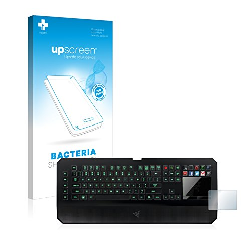 upscreen Antibakterielle Entspiegelungs-Schutzfolie kompatibel mit Razer Deathstalker Ultimate - Anti-Reflex Displayschutzfolie matt, Anti-Fingerprint