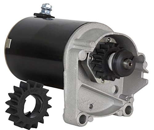 Rareelectrical New Starter Motor Compatible With Briggs & Stratton 14 16 18 Hp Starter 497596 V Twin With Free Gear By Part Numbers 393017 AM38984 394674 394808 435307 497596 497956 AM39287