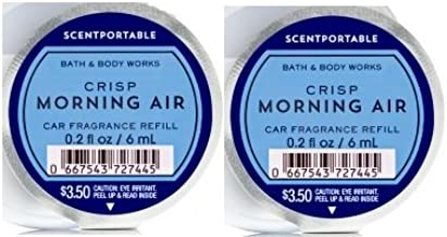 Bath and Body Works Scentportable Fragrance Refill Crisp Morning Air. 2 Set.