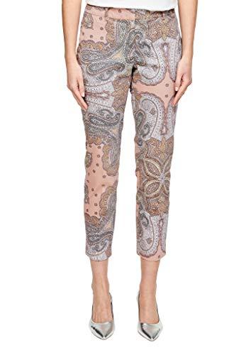 s.Oliver BLACK LABEL Damen 150.10.004.18.180.2038719 Hose, Light pink Paisley Print, 40
