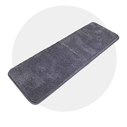 tappeto bagno 50x150 Carvapet Antiscivolo Tappetino Bagno Assorbente Acqua Tappeto Foccia per il Bagno Morbido Peluche Microfibra Tappeto da Bagno (Grigio Scuro