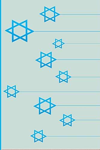 Star Of David: Jews for Jesus: Jewish Christian Notebook College Ruled Line Paper 6'x 9' Composition Note Book 60 Sheets (120 Pages) Gold Star of David for kids lighys men women friends Judaism