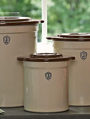 1-Gallon Stoneware Pickling Crock Complete Kit