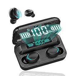 【 Technologie Bluetooth 5.0 avancée 】 Écouteurs Bluetooth de sport adoptent la technologie Bluetooth 5.0 la plus avancée pour garantir une connexion plus stable, moins de latance, moins de consommation d'énergie pendant la transmission de données. Vo...