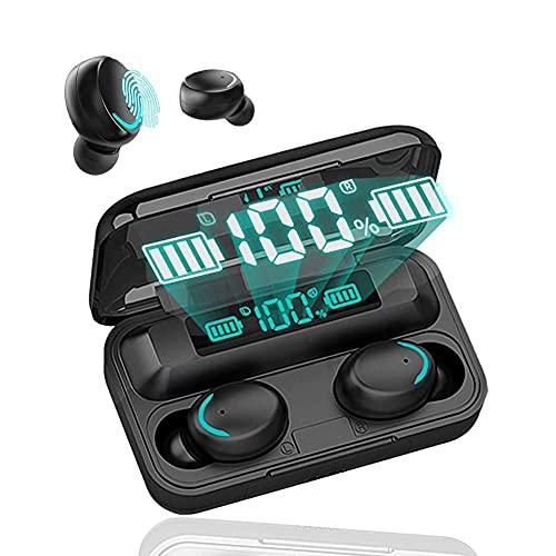 Auriculares Inalámbricos,Auriculares Bluetooth 5.0 Cascos Inalambricos Deportivos V5.0 IPX7 Impermeable In-Ear Auricular Micrófono Incorporado Carga Rápida USB-C para iPhone Android Xiaomi Samsung