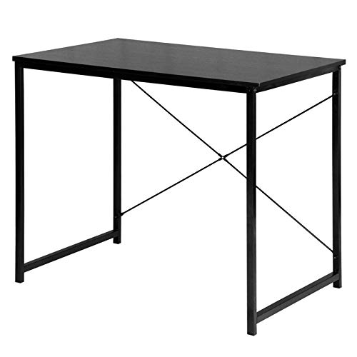 eSituro Scrivania Studio Industriale Tavolo Ufficio per Computer Tavolo da Sala da Pranzo Postazioni di Lavoro per Porta PC in Legno 80x60x70cm SCD0057