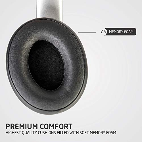 PowerLocus P6 Bluetooth Headphones Over Ear, Wireless Headphones, Super Bass Hi-Fi Stereo Sound, 20Hrs Battery Life,Soft Earmuffs, Headphones with Mic, Voice Assistant for iPhone,Android,Laptops,PC,TV