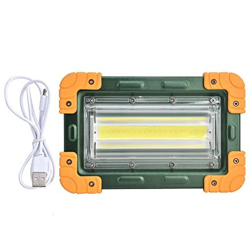GAESHOW Luz de trabajo 4 engranajes COB portátil ajustable 5000lm IP65 Luz de inundación plegable recargable Aleación de aluminio Linterna de carga USB de alta potencia para acampar Reparación de auto