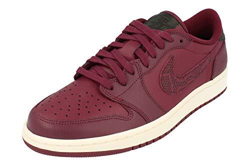 Nike Air Jordan Mujeres 1 Retro Low OG Trainers AQ0828 Sneakers (UK 5.5 US 8 EU 39, Bordeaux Black Phantom 600)