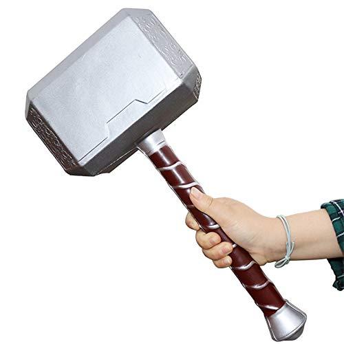 Thor's Hammer Pu Marvel Halloween Cosplay Arma De Utilera Para 44Cm / 17In Thunder Hammer Disfraz Arma Cumpleaos Regalos Marvel Child's Christmas Birthday A