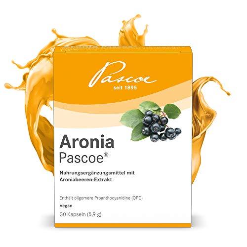 Pascoe® Aronia Pascoe: mit OPC (Polyphenole & Anthocyane) - aus Aronia Beeren - hochdosiert, ohne Zusatzstoffe, vegan - hergestellt in Deutschland - 30 Kapseln