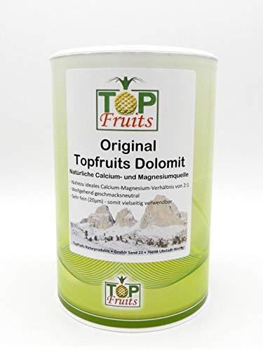 Topfruits Original Dolomit, 800g, CAMaG extrafeines Pulver, natürliche Calcium- & Magnesiumquelle