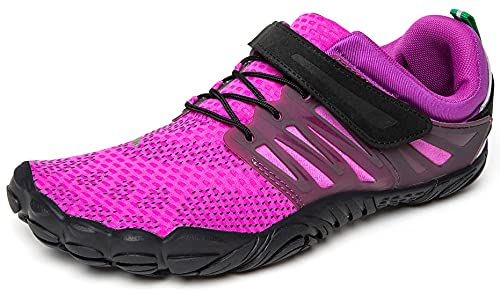 SAGUARO Hombre Mujer Zapatillas de Training Yoga Entrenamiento Gym Interior Transpirables Zapatos Correr Barefoot Resistentes Comodas Zapatos Gimnasio Asfalto Playa Agua Exterior(058 Púrpura, 37 EU)