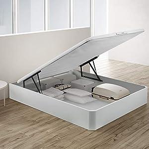 PIKOLIN, canapé abatible Gran Capacidad de almacenaje Color Blanco 135x190, Servicio de Entrega Premium Incluido