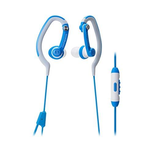 Audio-Technica ATH-CKP200iS SonicSport In-ear Headphones for Smartphones, Blue