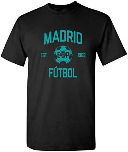 Madrid Spain Away Kit World Classic Soccer Football Arch Cup T Shirt Large Black product image