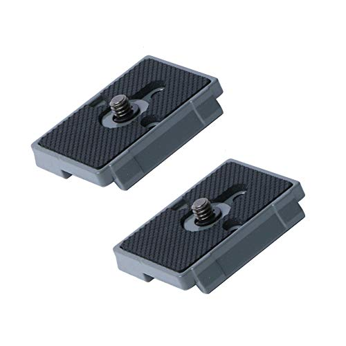 """Harwerrel Quick Release Plate 1/4"""" Screw Fit for Bogen 3157N Manfrotto 200PL-14 323 RC2 3030 3130 Camera Tripod Ball Head (Pack of 2)"""