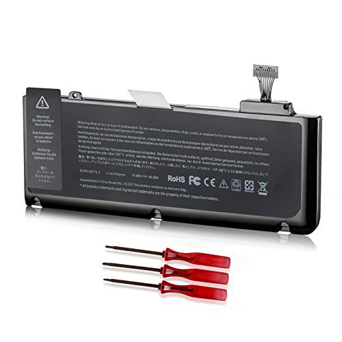 Shareway A1322 Laptop Battery Compatible with MacBook Pro 13' A1278 (2009 2010 2011 2012 Version) MB990LL/A MB991LL/A MD313LL/A MD314LL/A 020-6547-A 020-6765-A 020-6381-A 10.95V 63.5Wh 3ICP5/69/71-2