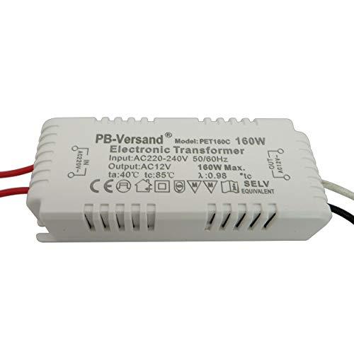 Mini transformateur LED 1-70 W 12 V CA – Transformateur haute performance pour spots G4, GU5.3, MR16, MR11 et plus (80 W)