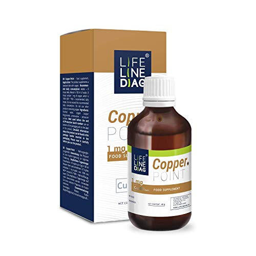 Copper.Point Chelated Copper Liquid Dietary Supplement for Tiredness, Fatigue, Healthy Hair & Skin I 40g of Copper Bisglycinate - 90 Daily Doses, 1mg of Copper Per Daily Dose I 1.4 Fl oz Bottle