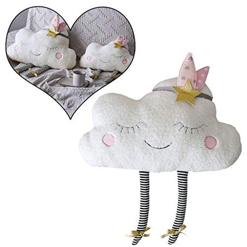 AMhomely® Neu!Weiches PlüschKissen niedlich Wolke Kissen Dekorative Kissen für Kinder Fotografie-Requisiten-Hintergrund, Sofa-Rückenkissen, Rundkissen, Hausdekoration (57 * 38cm)