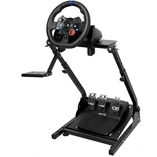 Marada G920 Racing Wheel Stand for G27,G25, G29 and G920 Gaming Racing Simulator Wheel Stand Racing Wheel Pro Stand Wheel and Pedals Not Included