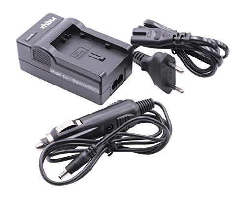 vhbw LADEGERÄT LADEKABEL NETZTEIL + KFZ-LADER für Kamera Canon Legria HF S20 HD, HF-G30, HF-XA20, HF- XA25 wie Akku BP-808, BP-820, BP-828.