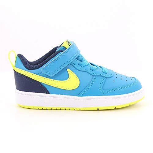 Nike 633 - BQ5453 400 - Zapatillas con tirantes y elástico para niño Azul Size: 26 EU
