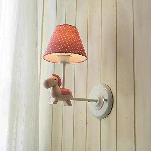 Modernes kleines frisches Pony Wandlampe einfaches Mädchen Kinderhaus Wandlampe und Laterne Lampe Pink