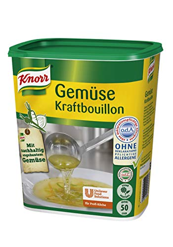 Knorr Gemüse Kraftbouillon (Gemüsebrühe mit Suppengrün, rein pflanzlich, vegan) 1er Pack (1 x 1 kg)