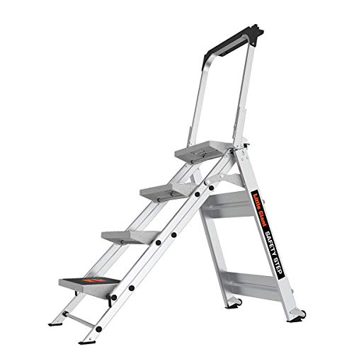 Little Giant Ladder Systems 10410BA Safety Step Ladder Four Step with...