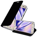 Cadorabo Funda Libro para Samsung Galaxy S7 en Classy Negro - Cubierta Proteccíon con Cierre Magnético, Tarjetero y Función de Suporte - Etui Case Cover Carcasa