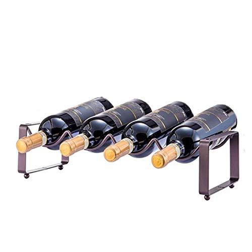 Botellero de Vino, 1pc Metal Wine Holder Rack para Champagne Cocina Barra de almacenamiento Organizador de exhibición Mueble de vino apilable soporte (Color : 1pc)