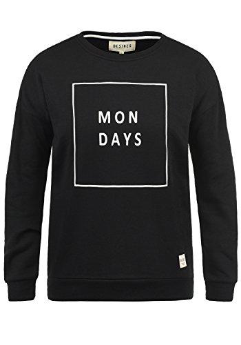 DESIRES Emma Damen Sweatshirt Pullover Sweater Mit Rundhalsausschnitt, Größe:XXL, Farbe:Black (9000)