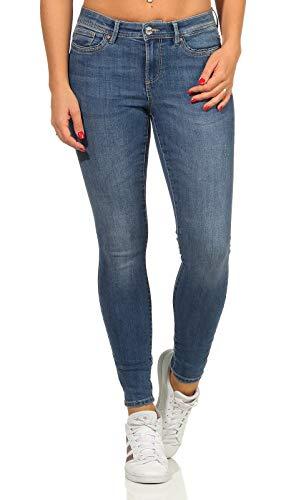 ONLY Female Skinny Fit Jeans ONLWauw Life Mid, Medium Blue Denim, M/32