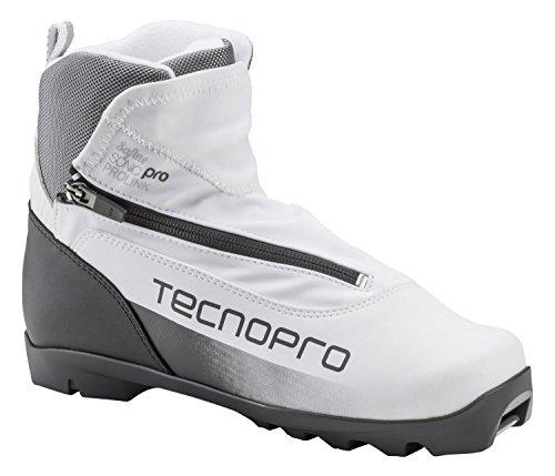 TECNOPRO Damen Langlauf-Schuh Safine Sonic Pro Prolink Skilanglaufschuhe, weiß/Schwarz/Silber, 5.5
