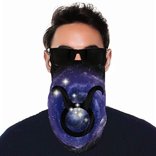 WU4FAAR Stirnbänder, Tierkreiszeichen Stier, Sternbild Sterne, Ohrschlaufen, Bandana, Halstuch, Gesichtsschutz