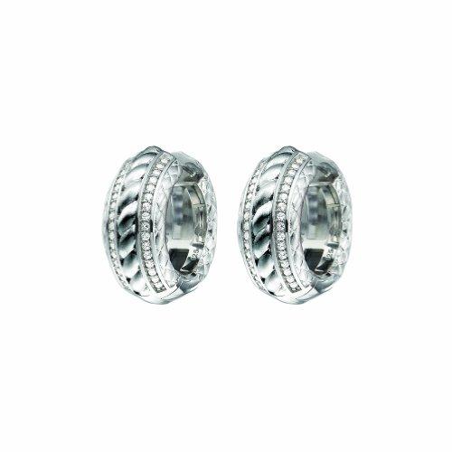 Joop! Damen-Creolen 925 Silber Zirkonia weiß - JPCO90089A000