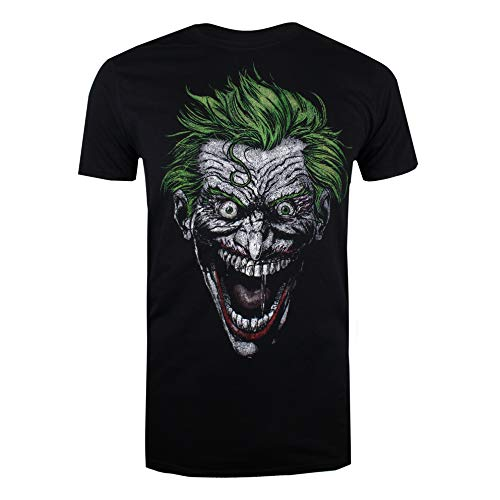 DC Comics Herren Joker T-Shirt, Schwarz (Black Blk), Large