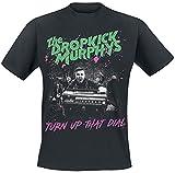 Dropkick Murphys Turn Up That Dial Cover Hombre Camiseta Negro L, 100% algodón, Regular